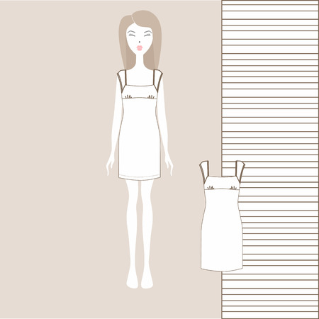 women's home dress. nightgown, nightie. Summer cotton dress made of jersey.