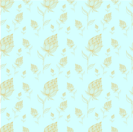 Seamless Floral Pattern in vector, sketched flower print, seamless background,