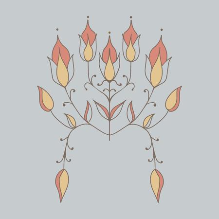 stylized flowers. decorative floral print