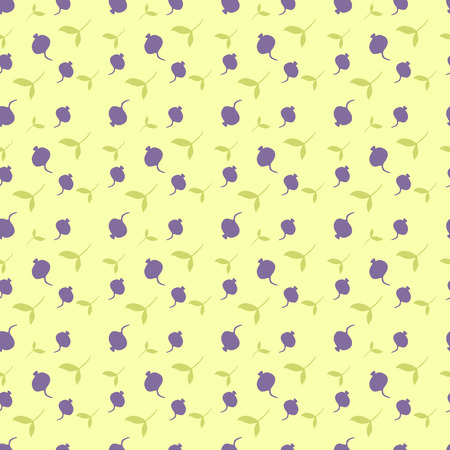 background with berries. pattern with leaves and berries. Banco de Imagens - 111435166