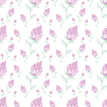 Flower illustration pattern. Cute pattern in small flower. Small colorful flowers. White background. Ditsy floral background. The elegant the template for fashion prints.