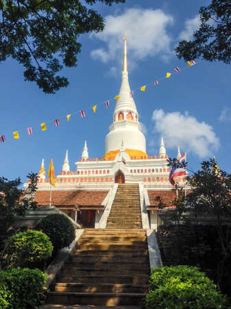 generality: White Pagoda at Wat Phra ko , Songkhla , Thailand Generality in Thailand, This photo is public domain or treasure of Buddhism
