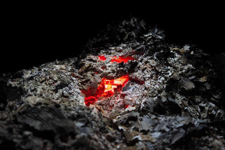 smoldering: Smoldering ashes of a bonfire
