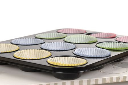 Prepering cup-cakes on the cake pan