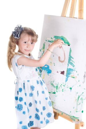 Shot of little girl painting in studio Stock Photo - 5677599