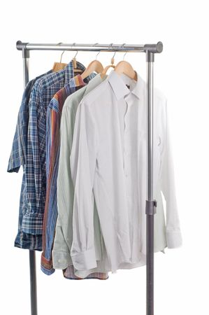 Shot of clothes in studio isolated on white photo
