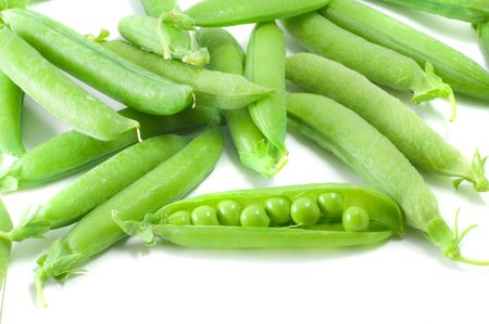 heartiness: Green peas vegetable with seed closeup view Stock Photo