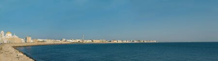 Panoramic view seafront of Cadiz in a sunny day  Stock Photo