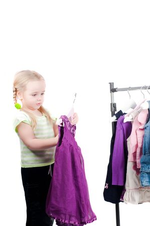 Toddler girl and clothes