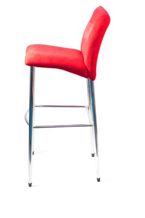 barstool: Red bar stool Stock Photo