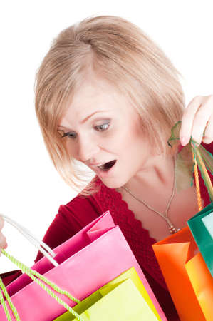 Beautiful woman with shopping bags Stock Photo - 8041535