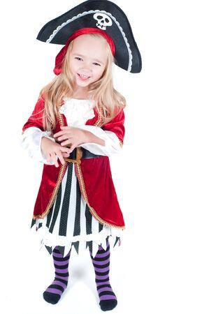 sombrero pirata: Vestida de niña para Christams