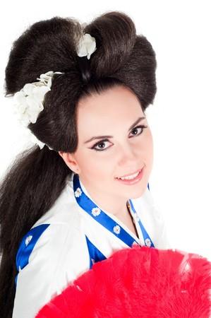 Portrait Of Geisha photo