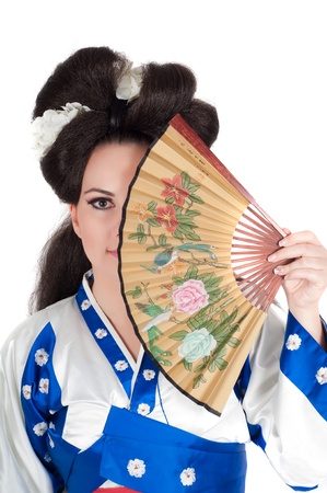 Portrait Of Geisha photo