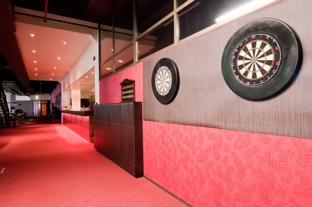 sports bar: Darts boards in club