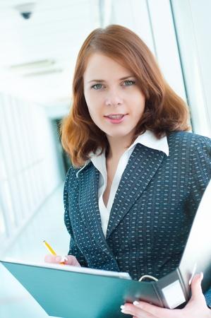 Beautiful business woman Stock Photo - 8624284