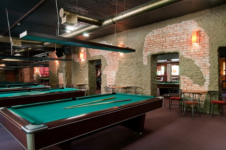 snooker tables: Billiard room