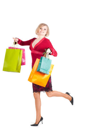 Beautiful woman with shopping bags Stock Photo - 8687613