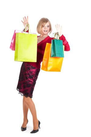 Beautiful woman with shopping bags Stock Photo - 9081889