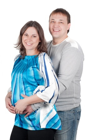Beautiful couple - pregnant woman photo