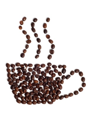 Conceptual shot of caffee cup Stock Photo