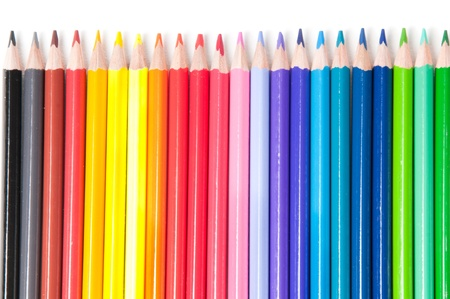 Crayons multicolores Banque d'images