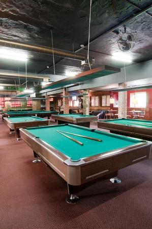 snooker room: Sala biliardo Archivio Fotografico
