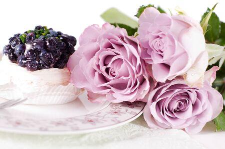 Pastel shade roses photo