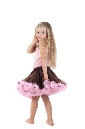 Kleine Mädchen im studio Standard-Bild