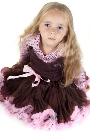 Little girl in studio Stock Photo - 10196971