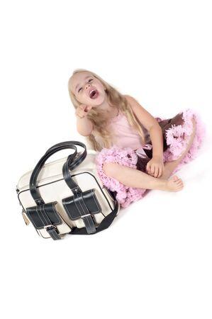 Little girl in studio Stock Photo - 10196965
