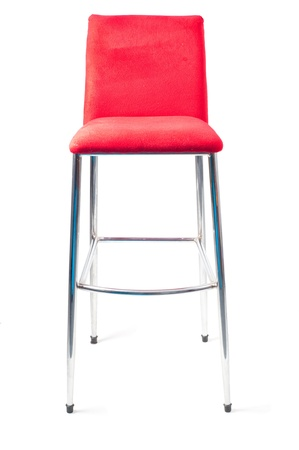 Red bar stool Stock Photo