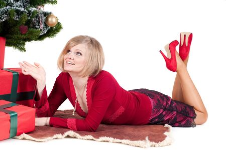 Happy woman with Christmas presents Stock Photo - 10918090