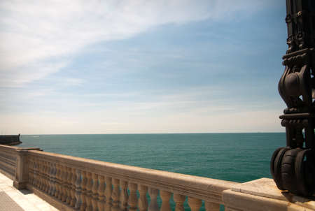 Promenade in Cadiz Stock Photo
