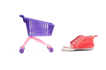 shoppingcart: Conceptual photo with miniature shopping-cart