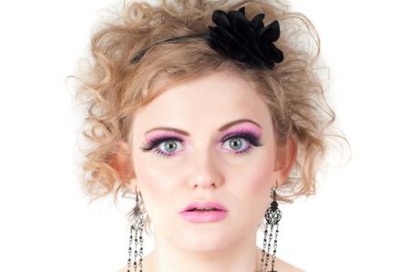 Portrait of blonde woman photo