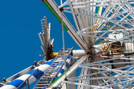 Shot of construction of an amusement over blue sky Stock Photo - 22224599