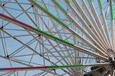 Shot of construction of an amusement over blue sky Stock Photo - 22224600