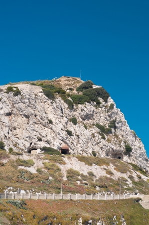 High mountain in Gibraltar and blue sky Stock Photo - 22347517