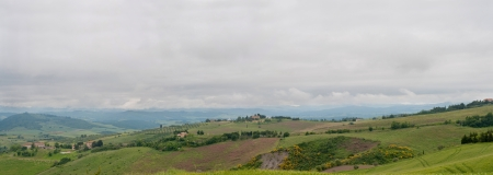 Panoramic view of scenic Tuscany landscape, Italy Stock Photo - 22347524
