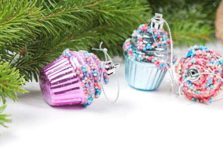 Christmas retro tree cupcake toys photo