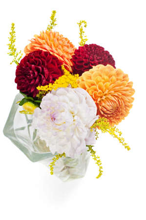 lacey: Bouquet of dahlias Stock Photo