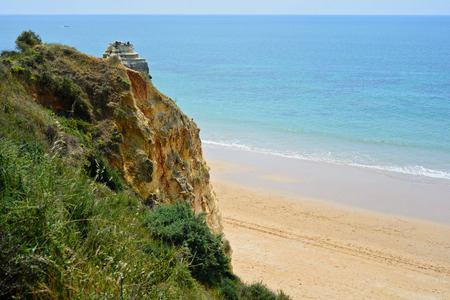 praia: A view of a Praia da Rocha, Algarve region, Portugal
