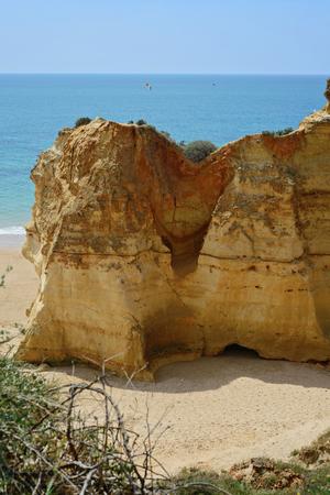 rocha: A view to cliffs Praia da Rocha, Algarve region, Portugal Stock Photo