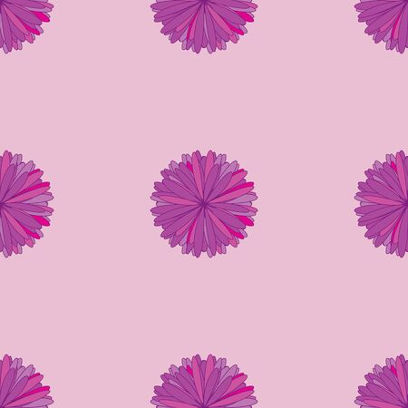 Seamless pattern with beautiful flowers on pink background Illustration