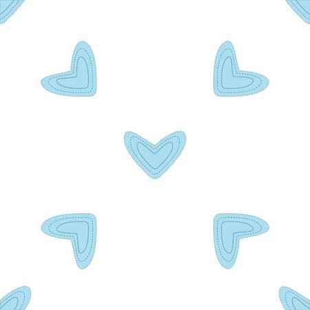 corazones azules: Patrón sin fisuras con corazones de color azul claro