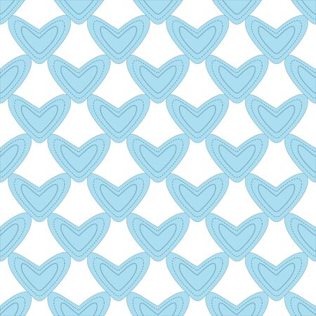 corazones azules: Seamless pattern with light blue hearts