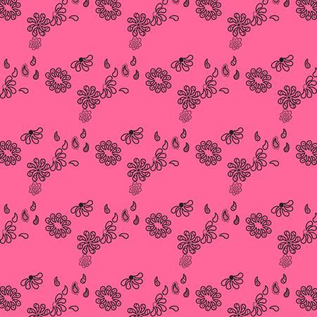 tiny: Tiny flowers seamless pattern