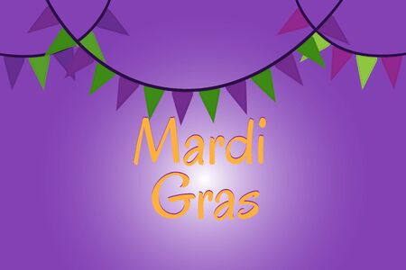 thematic: Mardi Gras holiday thematic picture Illustration