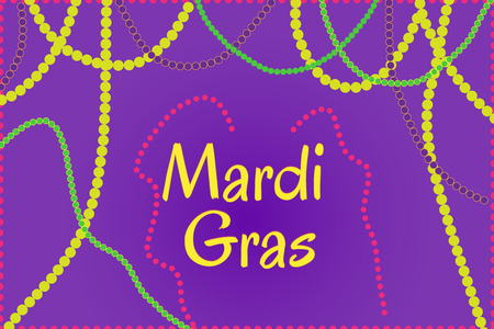 Mardi Gras holiday thematic picture Illustration